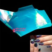 Glass effect nail foil Σιέλ